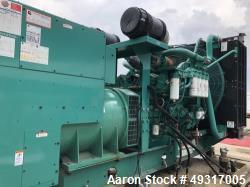 Used- Cummins 1000 kW Standby (900 kW prime) Diesel Generator