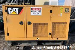 Used-Caterpillar D50-4S 50 kW. Diesel Generator Set, Model D50-4S, S/N CAT00C44JN4D01144, CAT C4.4 Engine, 120/240 Volt, 1 P...