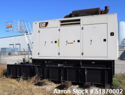 Used-Caterpillar 500 kW Standby Diesel Generator Set, Model LC6, Serial#-G6B22969, CAT C15 engine rated 762 HP at 1800 RPM, ...