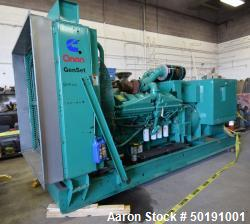 Used- Cummins 1000 kW Standby Diesel Generator Set , Model 1000DFJD