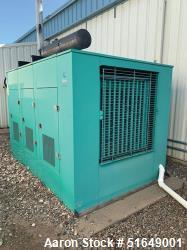 Used-Cummins Diesel Generator, 350 KW, Standby, Model 350DFNL289630, S/N R890198516, 350 KVA