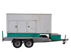 Used- Cummins Onan 125 kW Trailered Diesel Generator Model DGEA.