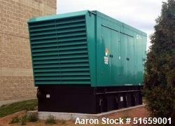Used Cummins 750 kW standby (680 kW prime) Diesel Generator set, Model DQCB.