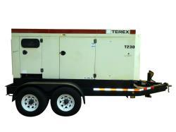 Used- Terex / John Deere 184 kW portable trailered diesel generator , model OT23