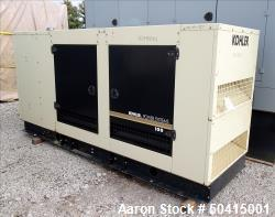 Used- Kohler Model 100REZG, 100 kW Natural Gas Standby Generator Set.