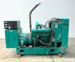 Used- Onan Natural 55 KW Gas Generator. Model 55SKBL291838