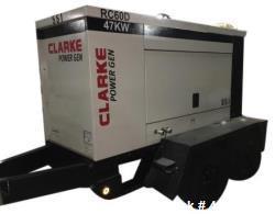 d- Clarke Mobile Prime Generator, Model RC60D-T3. 47 kW, Diesel. 71 Amps, 59 kVA, 480V-3-60Hz. John ...