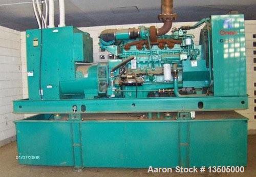 Used-Onan model DFCB-4477833 generator, 375 kW, Cummins N.T.A. 855-62-855 CID diesel engine withi fuel tank below engine, tr...
