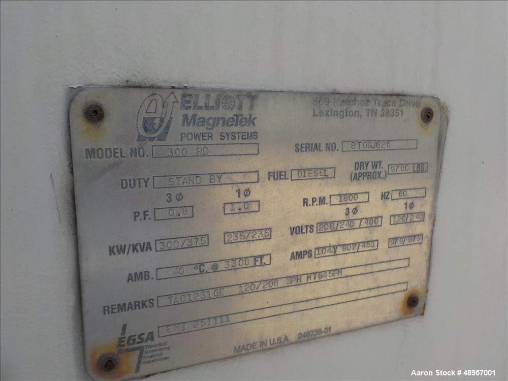 Used- Elliott Magnetek 300RD Genset