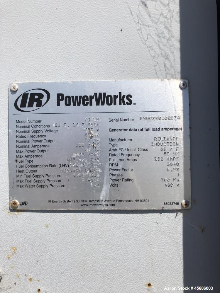 Used- Ingersoll-Rand PowerWorks 70 kW Microturbine Natural Gas Generator