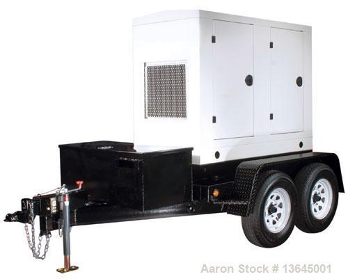 New-Cummins powered 100 kW standby (90kW prime) diesel generator set, trailer mounted. Cummins QSB5-G5 EPA tier 3 certified ...