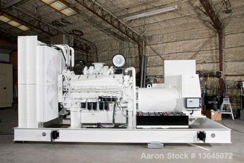 Unused-New Mitsubishi Powered 1600 kW Standby (1455 Prime) Diesel Generator Set. Mitsubishi model S16R-Y2PTAW-1, EPA tier 2 ...