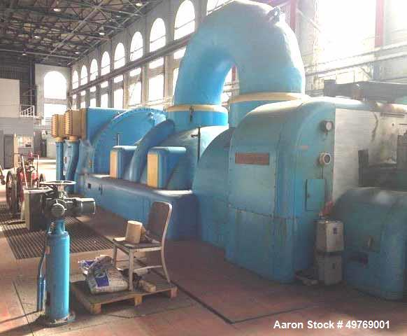 Used- Westinghouse Electric Corporation Two Cylinder Tandem Compound Condensing Reheat Turbine. At rated speed pf 3600 rpm t...