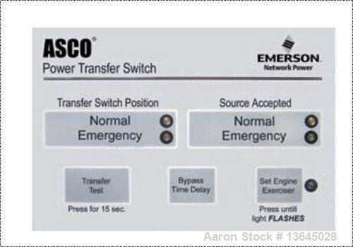 New-Asco 3000 Amp ATS, Series 300 power transfer switch. 3 pole, 480V, Nema 1 enclosure, UL 1008 approved.