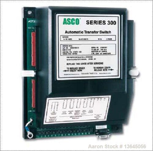 New Asco 1200 Amp ATS, series 300 power transfer switch. 3 pole, 277/480 (600 volt maximum) Nema 1 enclosure, UL 1008 approv...