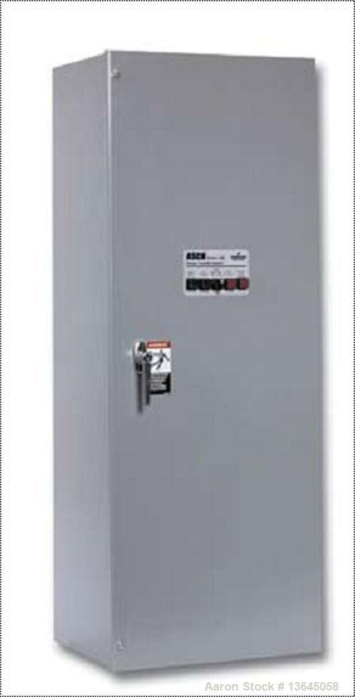 New Asco 600 Amp ATS, Series 300 power transfer switch. 3 pole, 277/480 (600 volt maximum) Nema 1 enclosure, UL 1008 approve...
