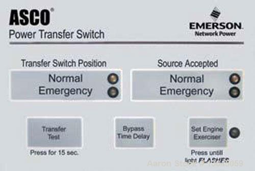 Unused-New Asco 200 amp ATS, series 300 power transfer switch, 3 pole, 277/480 (600 volt maximum) Nema 1 enclosure, UL 1008 ...