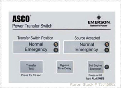 Asco 1600 Amp Automatic Transfer Switch