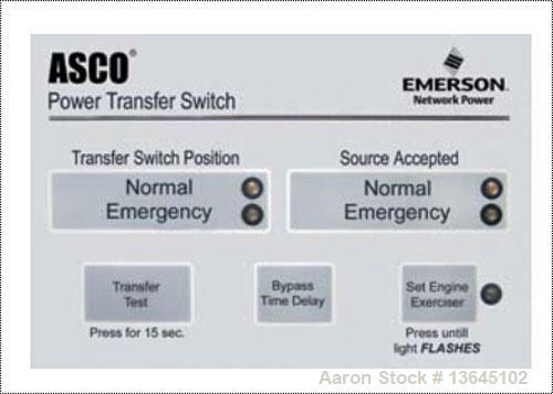 Asco 1200 Amp Automatic Transfer Switch.