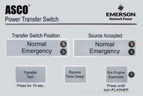 Unused-New Asco 200 amp ATS, series 300 power transfer switch, 3 pole, 3/60/480v, Nema 1 enclosure, UL 1008 approved.