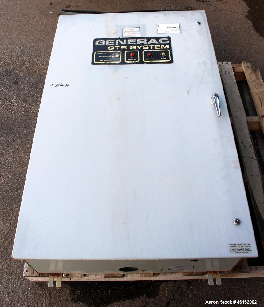Used- Generac Automatic Transfer Switch, Model 98 on residential automatic transfer switch, ac transfer switch, caterpillar automatic transfer switch, 200 amp kohler automatic transfer switch, rv automatic transfer switch, 50 amp automatic transfer switch, generator automatic transfer switch, service disconnect transfer switch, onan automatic transfer switch, general electric automatic transfer switch, cutler hammer emergency stop switch, automatic disconnect switch, guardian automatic transfer switch, siemens automatic transfer switch, cutler hammer automatic transfer switch, apc automatic transfer switch, cummins automatic transfer switch, rack mount automatic transfer switch, 200 amp manual transfer switch, rts automatic transfer switch,