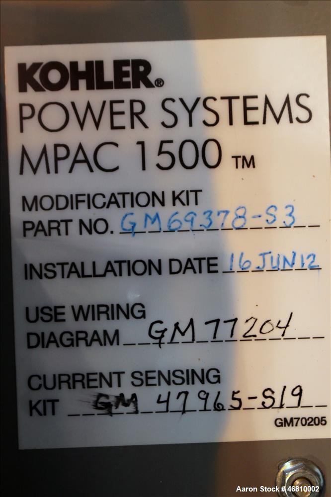 Used- Kohler 800 Amp ATS, Byp Isolation Automa on kohler ats wiring diagram, kohler rdt automatic transfer switch, kohler engine ignition wiring diagram, 20 hp kohler wiring diagram,