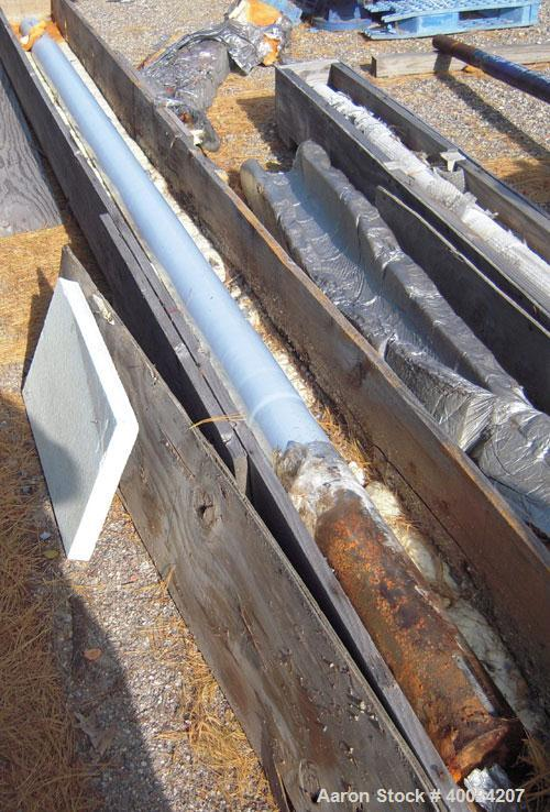 Used- Glass Lined Crylock Agitator Shaft for approximate 4000 gallon reactor. Approximate 5 1/2'' diameter shaft x 186'' lon...