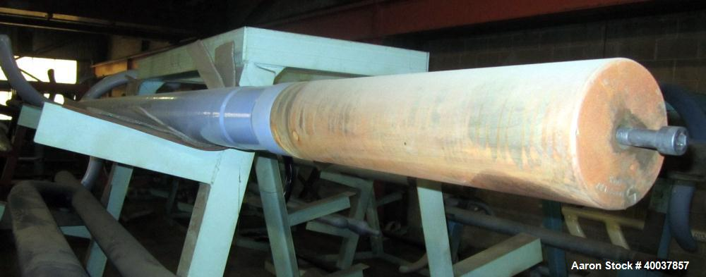 """Used- Pfaudler Glass Lined 3-Blade Retreat Curve Impellar For 3,000 Gallon Reactor. 48"""" span x 166.5"""" long. 5-1/2"""" diameter ..."""