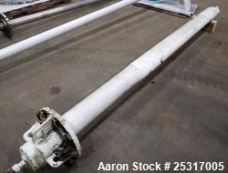 """Used-8"""" flanged beaver tail baffle. 111"""" Long X 7"""" Tall."""