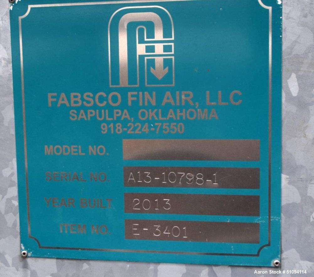 """Used- Fabsco Fin Air Fin Fan Heat Exchanger, Approximate 660 Square Feet, Galvanized Housing. (158) 1"""" Diameter x 192"""" long ..."""