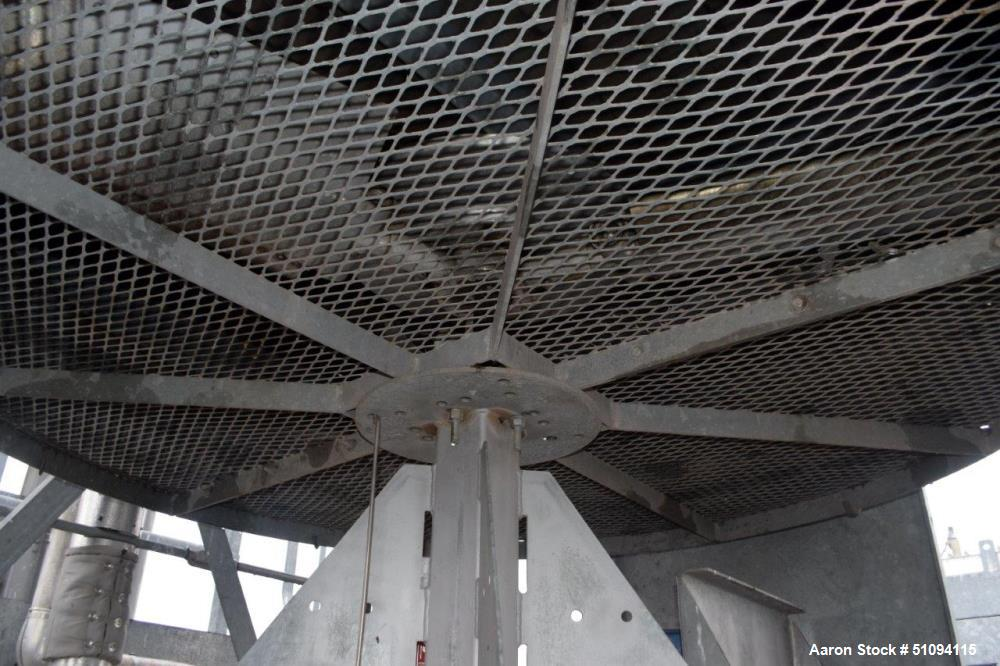 Used- Fabsco Fin Air Fin Fan Heat Exchanger, Approximate 469 Square Feet, Galvanized Housing. (3) Tube sections with a total...