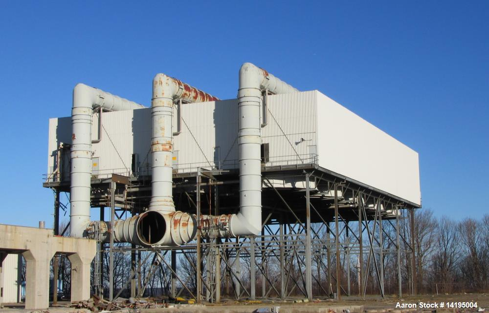 Used- GEA Air Cooled Condenser. Type 15 bay, 150 Tube Bundles,carbon steel tubes; 622,000 Lb/Hr; 7 in, H2O Absolute Pressure...
