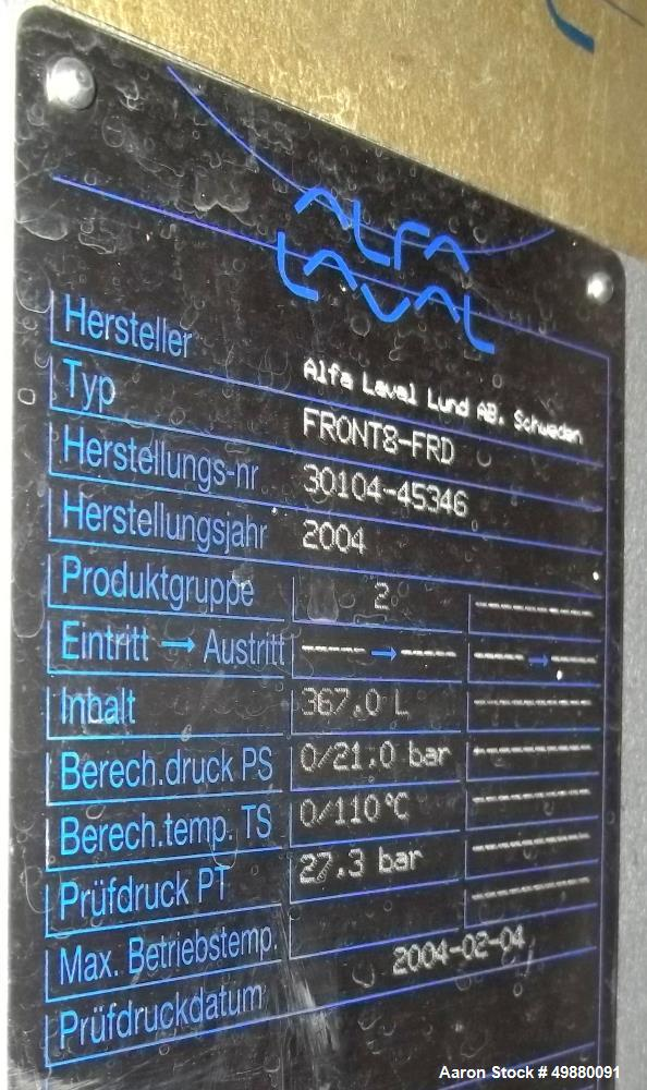 Used- Alfa Laval Lund AB Plate Heat Exchanger