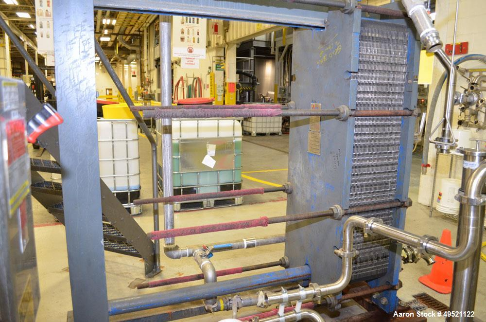 Used- APV Plate Heat Exchanger, Model SR6GL, Serial# 30963.1. National Board # 242. Approximately (41) 772/757 mm plates. Ra...