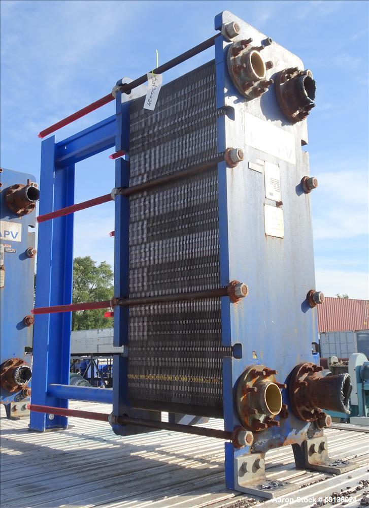 Used- APV Plate Heat Exchanger, Model SR6GLMGS10, 316 Stainless Steel.