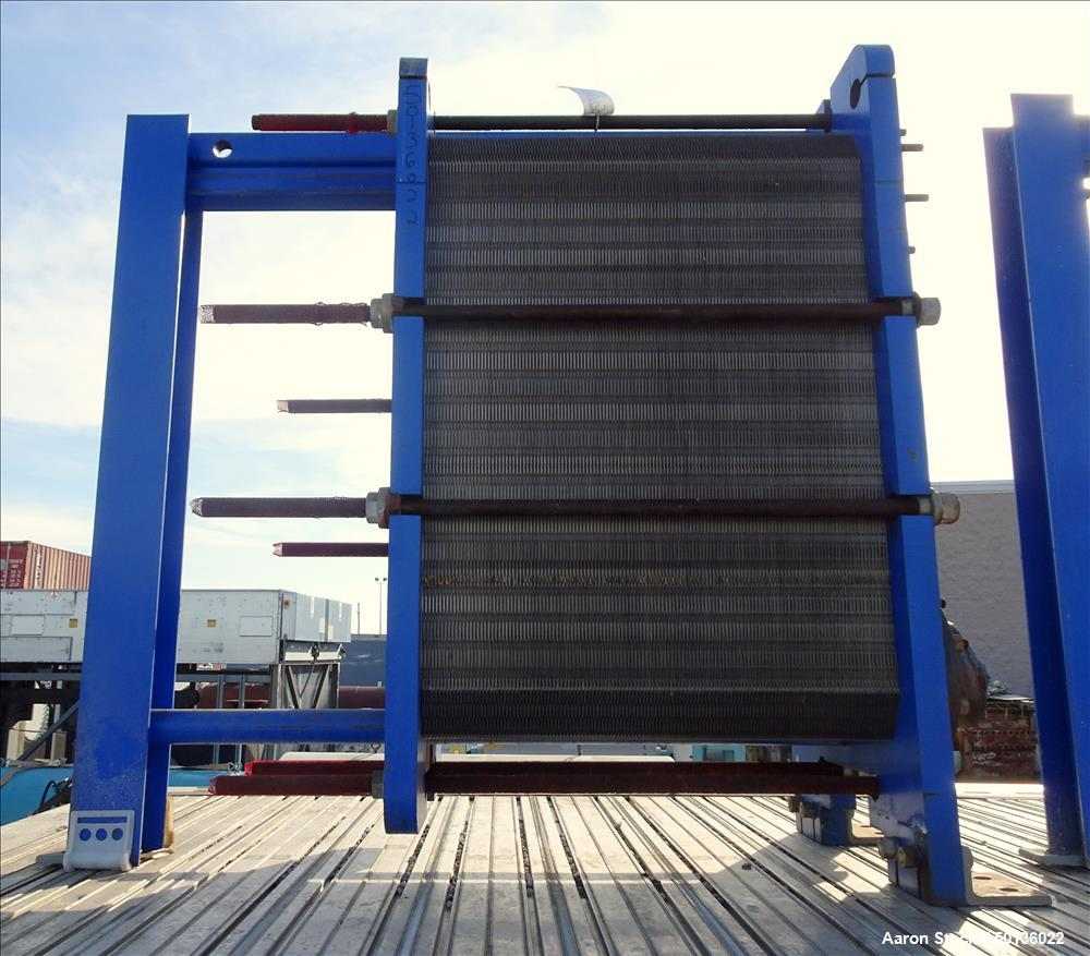 Used- APV Plate Heat Exchanger, Model TR9GLMGS 11, 316 Stainless Steel.