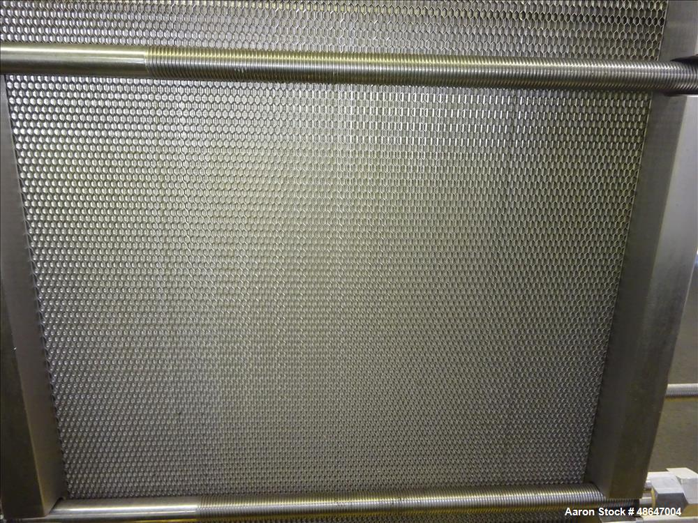 Used- Fischer Plate Heat Exchanger, Model E-18 DFP, 316 Stainless Steel.