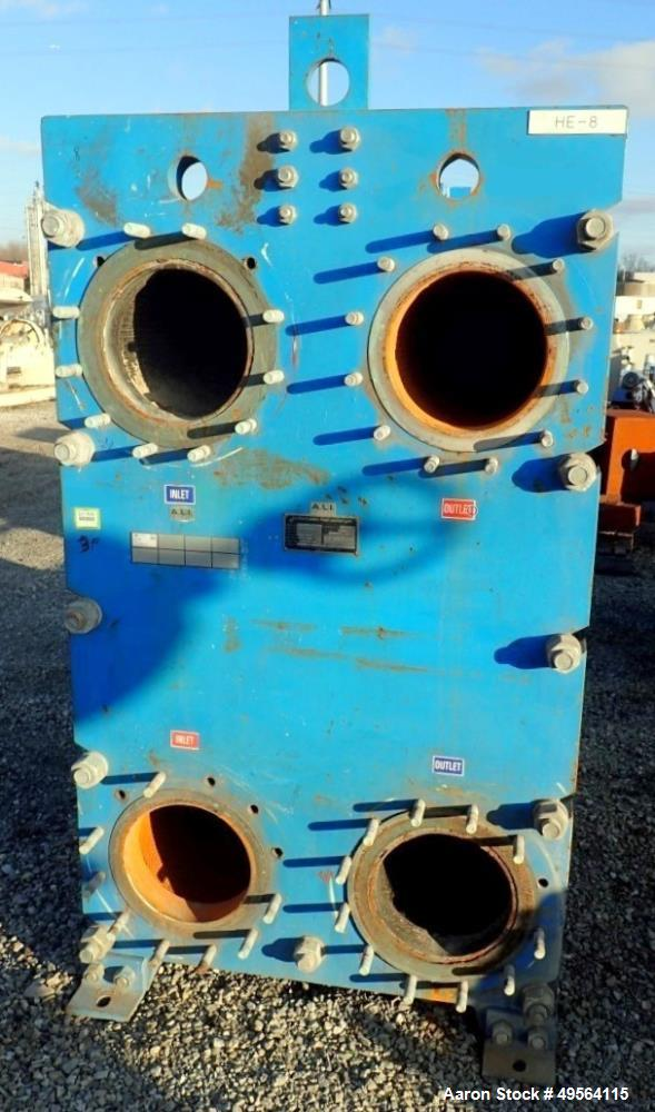 Used- Graham Plate Heat Exchanger, 3771 Square Feet, Model GPE-85.