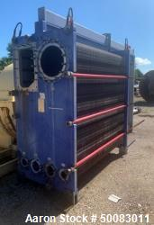 Used- Alfa Laval AlfaVap Plate Exchanger, Model AlfaVap 500-TFR, 4,604 Square Fe