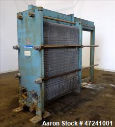 Used- Alfa Laval Plate Type Heat Exchanger, Model AM20-FG, Surface Area 1,351.50