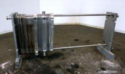 Used- Stainless Steel Alfa Laval Plate Heat Exchanger, Approximately 193 Square
