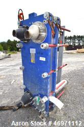 Used- Alfa Laval Plate Heat Exchanger, 161.60 Square Feet, Model Widegap200S-FG. (21) 0.80mm 316 Stainless steel plates, rat...