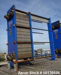 Used- APV Plate Heat Exchanger, Model N35MGS-10, 316 Stainless Steel.