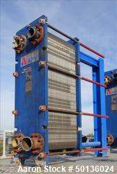 Used- APV Plate Heat Exchanger, Model SR6GLMGS10, 316 Stainless Steel.