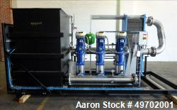 Used- Custom Heating-Cooling System Skid, Consisting of: (1) Funke plate heat exchanger, model FP 50-163-1-NH-0-10.0 bar. Ap...