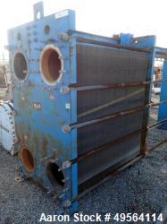 Graham Plate Heat Exchanger, 3771 Square Feet, Model GPE-85. Stainless steel plates rated 150 psi a...