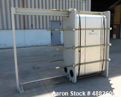 Used- Mueller Accu-Therm Plate Heat Exchanger, Model AT80 LB-150, Approximate 26