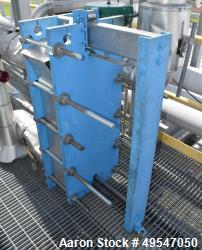 Used- Tranter Superchanger Plate Heat Exchanger, 148.33 Square Feet, Model GCP-026-H-5-NR-55. Stainless steel plates, carbon...