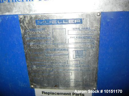Used- Mueller Plate Heat Exchanger. Model AT20 C-20, Approximate 50 Square Foot