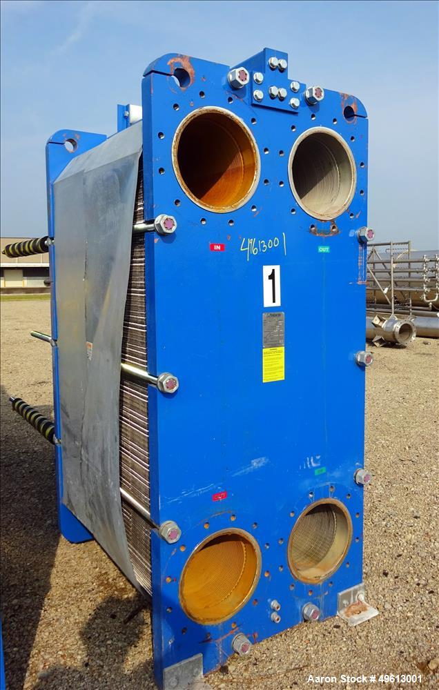 Used- Polaris Plate Heat Exchanger, Stainless Steel.